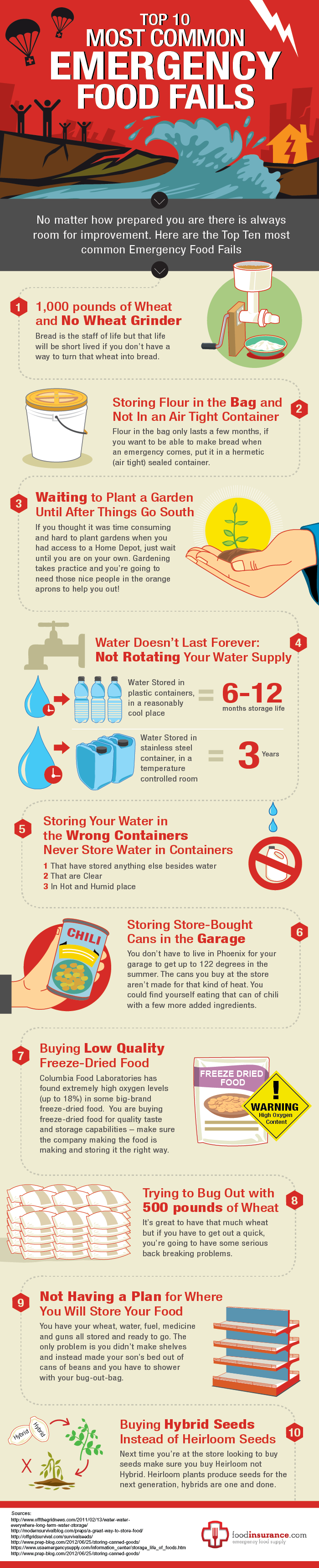 Emergency Food Infographic