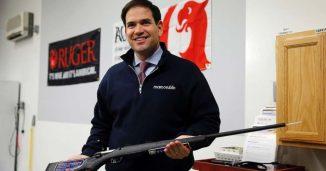 Marco Rubio pretending to support guns