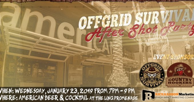 OFFGRID Survival SHOT Show Networking Party