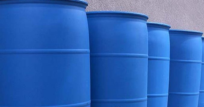 55 Gallon Water Barrels