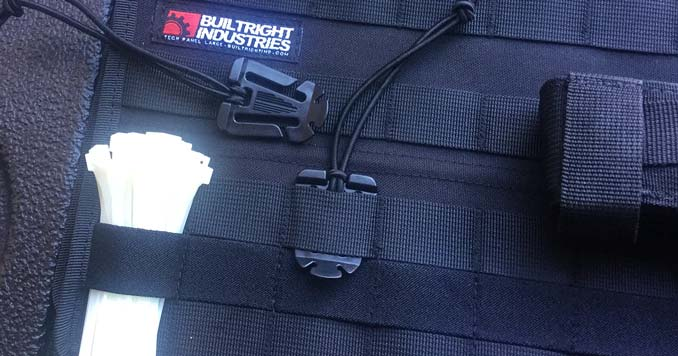 MOLLE Panel Clip to hold gear and attachments