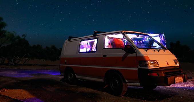 Small camping van