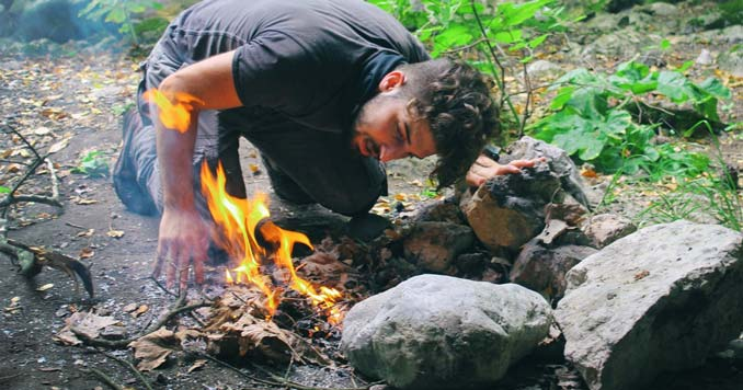 Building a fire