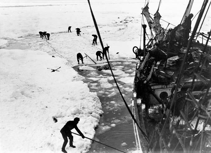 Endurance Stuck in Ice