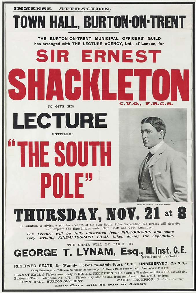 Sir Ernest Shackleton South Pole Lecture