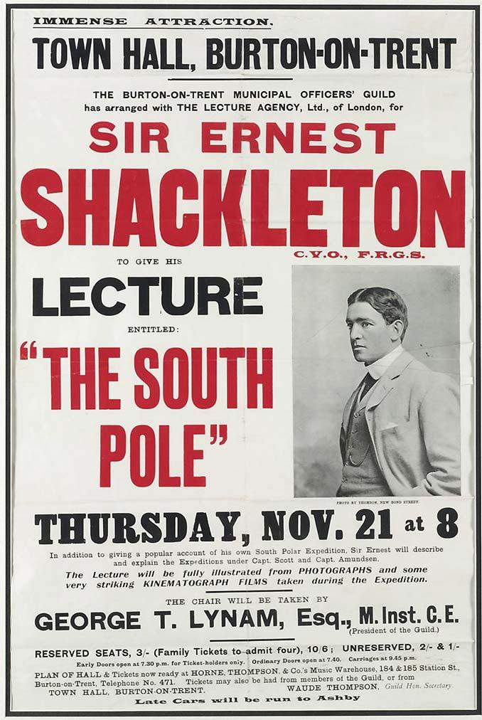 Sir Ernest Shackleton South Pole Lecture