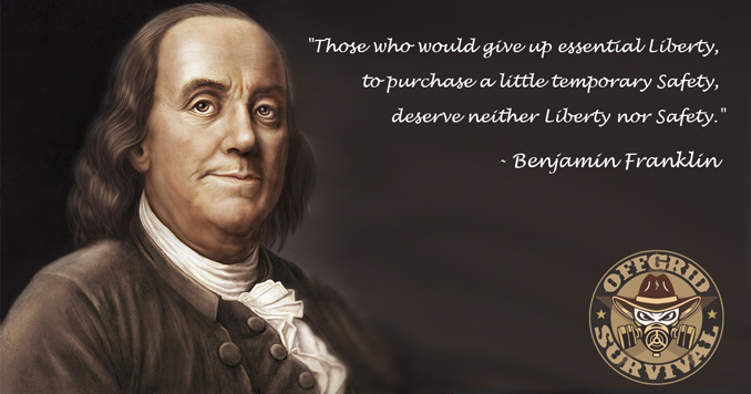 "Benjamin Franklin Quote - ""Those who would give up essential Liberty, to purchase a little temporary Safety, deserve neither Liberty nor Safety."""