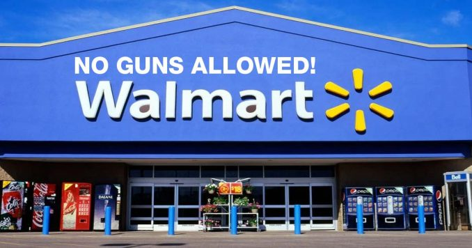 Walmart's no guns allowed sign