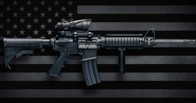 Gun on a Flag