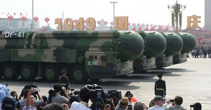 dongfeng 41 missiles on display