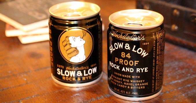 Slow & Low Rock & Rye Whiskey Cans