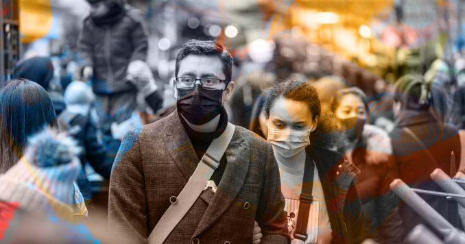 People wearing coronavirus masks
