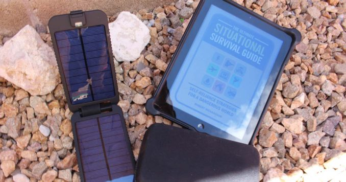 Tablet with Solar Panel