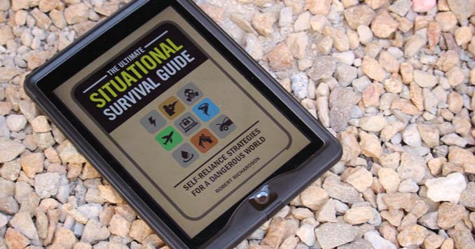 A Tablet with The Ultimate Situational Survival Guide