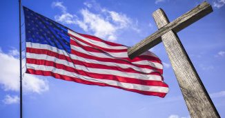Cross and the American Flag
