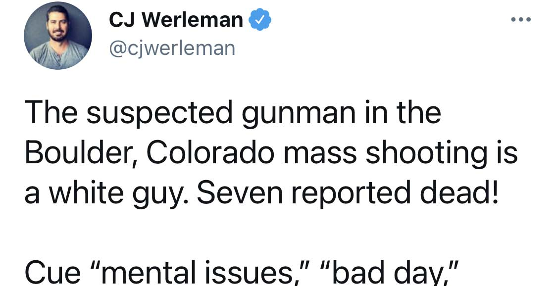 Twitter Liberals blaming Colorado Mass Shooting on a White Guy, before it came out that the shooter was a Syrian