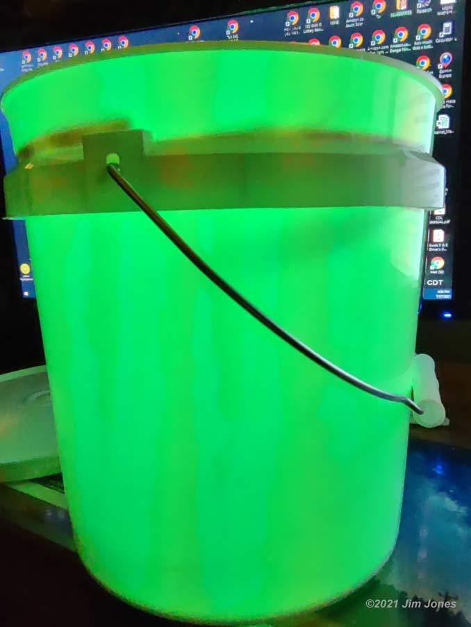 LED Light Strips in Bucket Light
