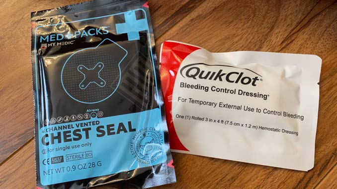 QuickClot and Chest Seal