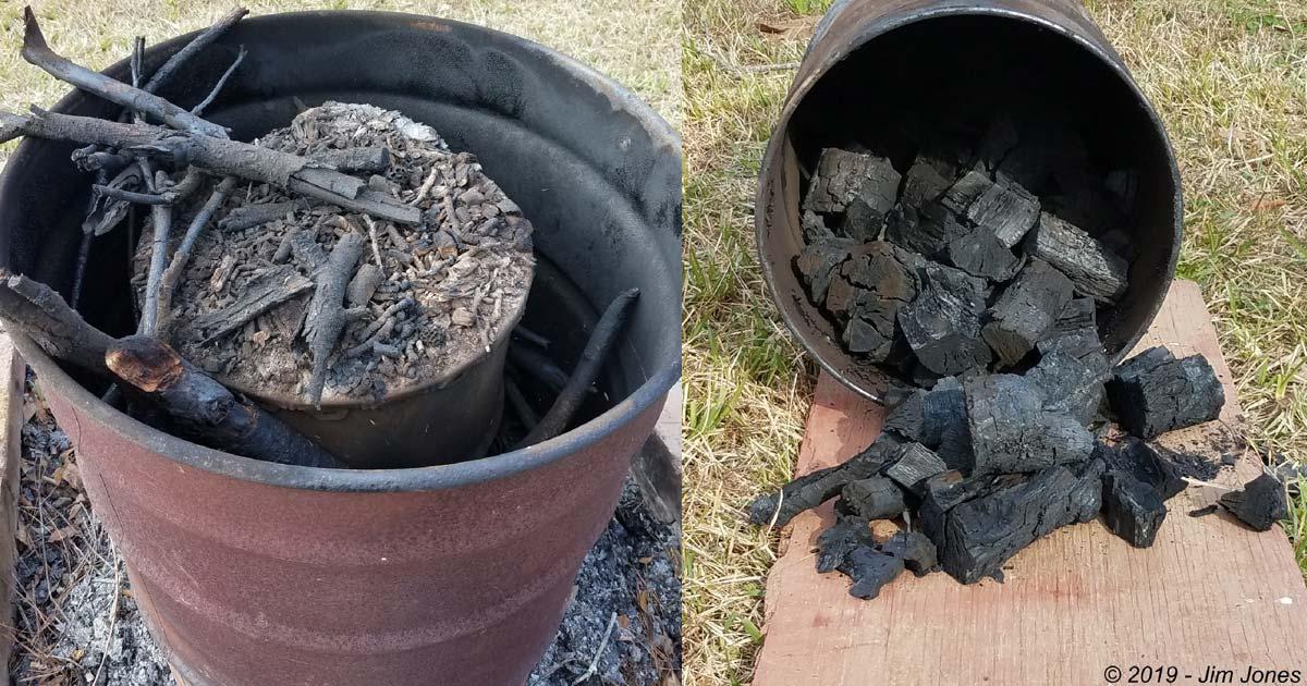 Making Hardwood Lump Charcoal
