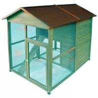 Hand built chicken coop