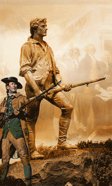 founding fathers holding guns