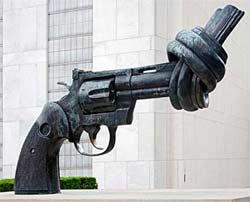 UN Gun Ban Sculpture