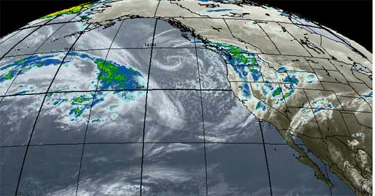 Pacific weather map