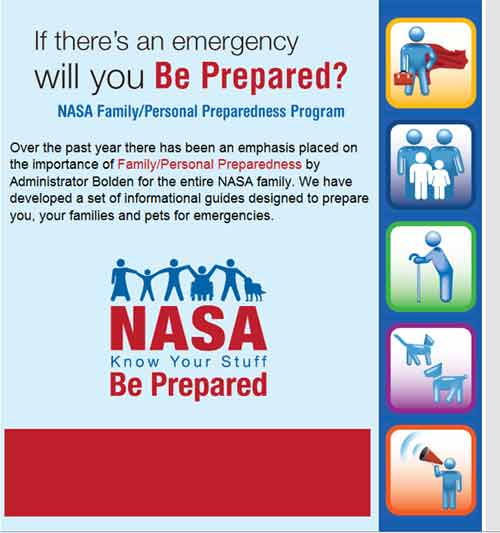 NASA Be Prepared Message