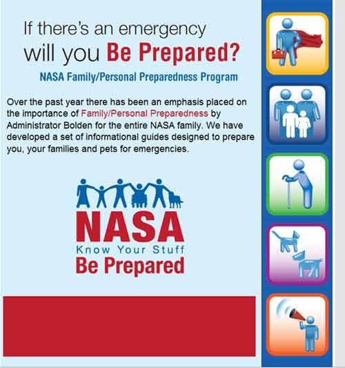 NASA Be Prepared Message