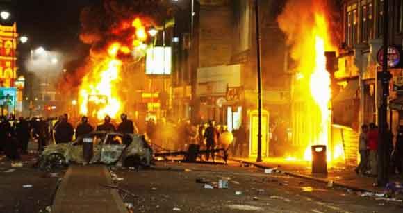 London Riot Fires